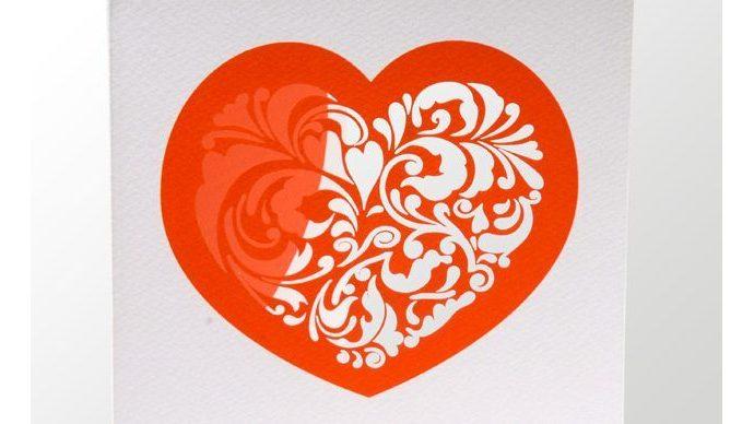 incisione biglietto san valentino