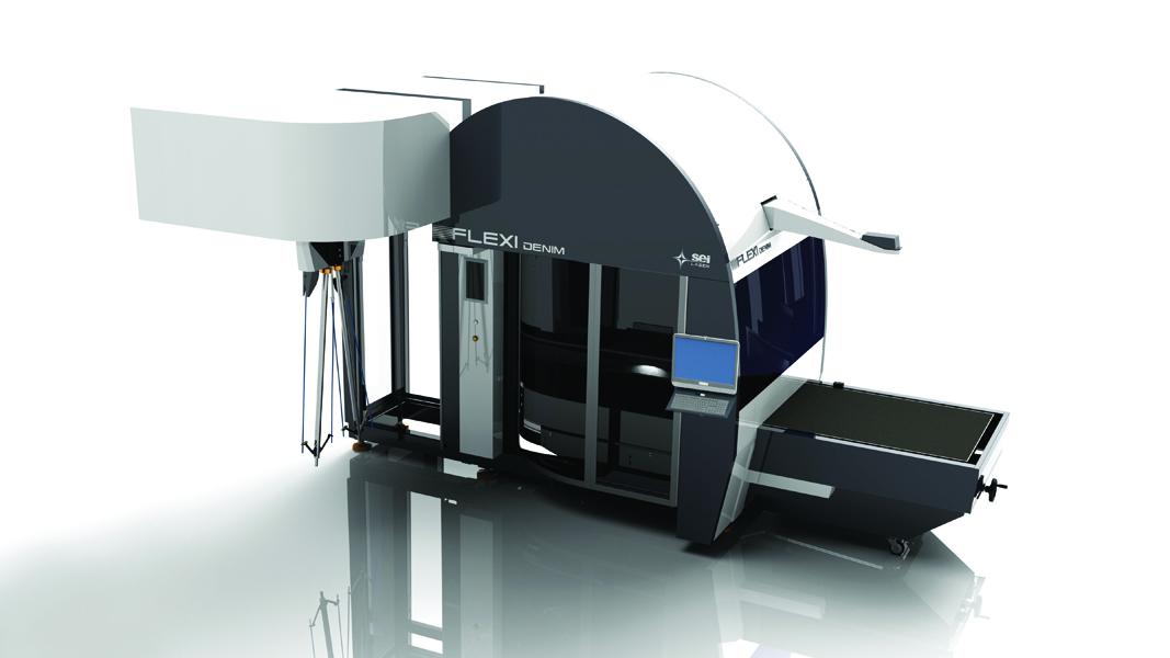 macchina laser per il finissaggio dei tessuti